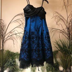 Strapless Evening Dress Shimmer Velvet Corset Back